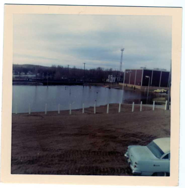 City pump station river