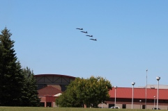 Flying over the USDA facility on NDSU campus