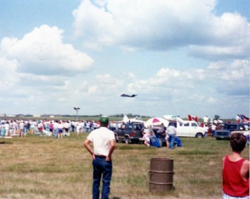 F-117 Nighthawk, Minot Air Show, Minot, ND, 1991?; 110 film