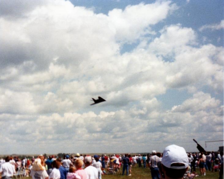 F-117 Nighthawk, Minot Air Show, Minot, ND, 1991; 110 film