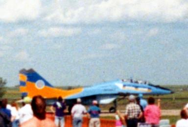 MiG 29 Fulcrum (Ukrainian), Minot Air Show, Minot, ND, 1992; 110 film