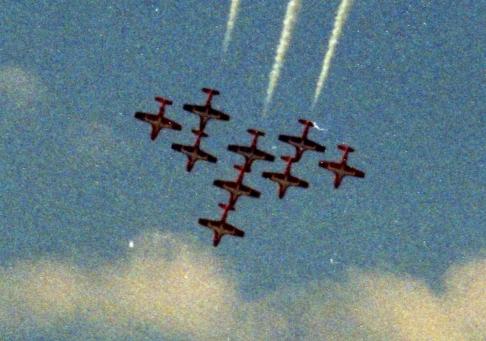CT-114 Tutor, Fargo Air Show, Fargo, ND, 2003; Minolta Maxxum 7000, 35 mm